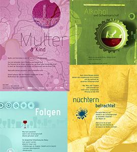 "Plakatserie ""Alkoholkonsum in der Schwangerschaft"""